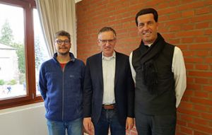 v.l.n.r.: Bastian Zillig, Pfr. Daniel Post, Pfarrer Dr. Wolfgang Picken